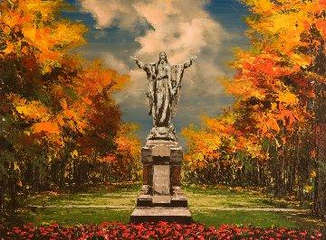 Benevolence of Giving 30x40  Huge Original Painting - Thomas Easley