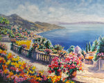Cote D'Azure, France 1993 Limited Edition Print - Peter Eastham