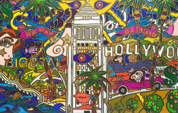 L.A!  -  Hollywood, California 1993 Limited Edition Print - Alex Echo