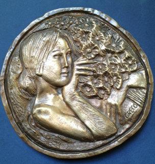 Ragazza Con Fiori Bronze Sculpture Sculpture by Emilio Greco