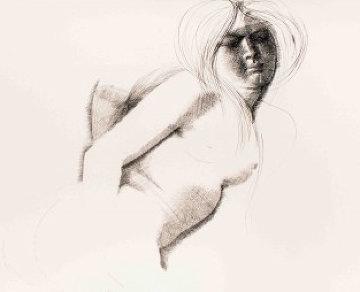 Nude  Drawing 1972 27x39 Drawing - Emilio Greco