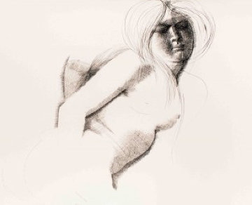 Nude  Drawing 1972 27x39 Drawing by Emilio Greco