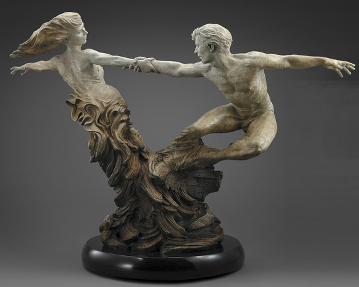 Whirlwind Bronze Sculpture, 2004 59 in  Sculpture by Martin Eichinger