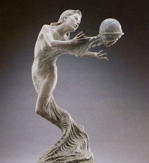 Gaia's Breath Bronze Sculpture 1995 28x14 Sculpture by Martin Eichinger