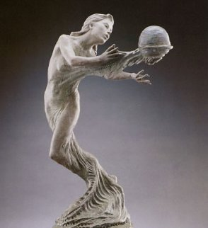 Gaia's Breath Bronze Sculpture 1995 28 in Sculpture - Martin Eichinger