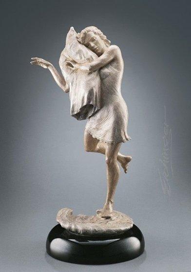 Pillow Dance Bronze Sculpture 2003 22 in by Martin Eichinger
