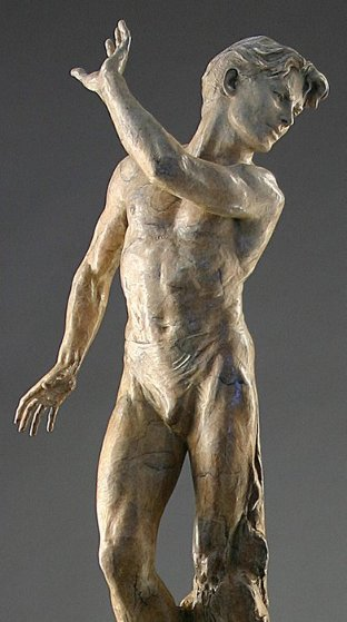 Dance of Yes And No:He Bronze Sculpture 2001 41 in   by Martin Eichinger