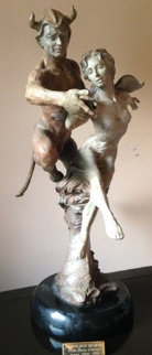 Dancing With the Devil Bronze Sculpture 1999 26 in  Sculpture by Martin Eichinger