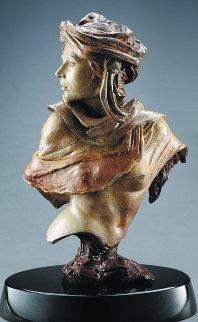 Adrenaline Rising Bust Bronze Sculpture 2003 18 in Sculpture by Martin Eichinger