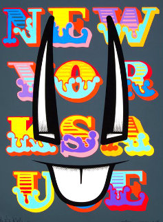 New York Sauce AP 2013 Collaboration with D'Face Limited Edition Print - Ben Eine