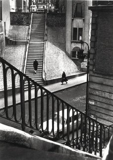 Left Bank Street Paris 1964 Photography by Alfred Eisenstaedt