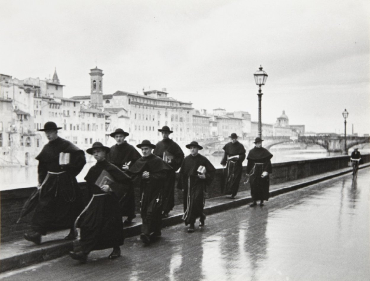 Monks Along the Arno 1935 Limited Edition Print by Alfred Eisenstaedt