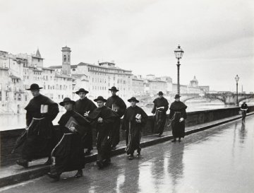 Monks Along the Arno 1935 Limited Edition Print - Alfred Eisenstaedt