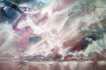 Untitled Painting 1987 48x72 Huge Original Painting - Douglas Eisman