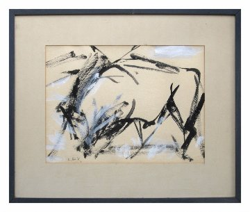 Untitled Painting 1948 25x20 Original Painting - Elaine De Kooning