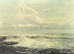 Untitled Seascape 1967 31x25 Original Painting - Peter Ellenshaw