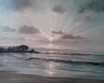 Twilight Surf 1967 32x42 Limited Edition Print by Peter Ellenshaw
