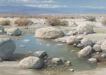 Desert Reflection Limited Edition Print - Peter Ellenshaw