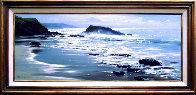 Wood's Cove 1965 26x50 Huge Original Painting by Peter Ellenshaw - 1