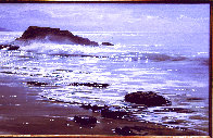 Wood's Cove 1965 26x50 Huge Original Painting by Peter Ellenshaw - 3