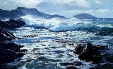Kerry Coast 39.6 X 57.6   Original Painting - Peter Ellenshaw