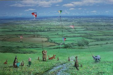 Set of 4 Seasons of Winnie the Pooh, Suite of 4  1999  Limited Edition Print - Peter Ellenshaw