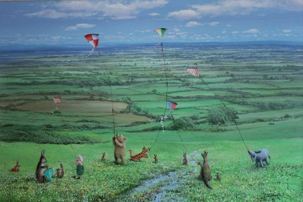 Set of 4 Seasons of Winnie the Pooh, Suite of 4  1999  Limited Edition Print by Peter Ellenshaw