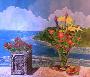 Megans Bay 2002 48x54 Huge Original Painting - Russ Elliott