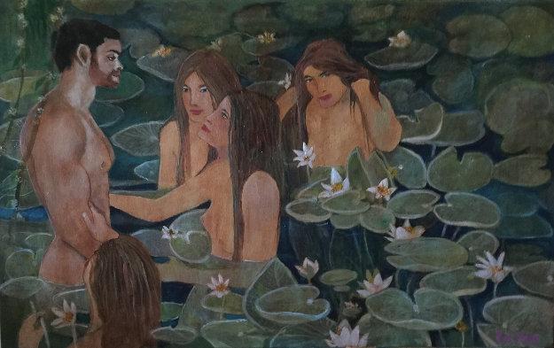Sirens 2018 30x38 Original Painting by Russ Elliott