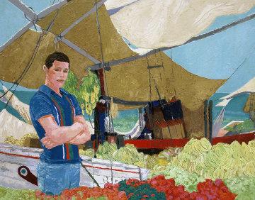 Banana Boat 1976 42x52 Original Painting - Russ Elliott