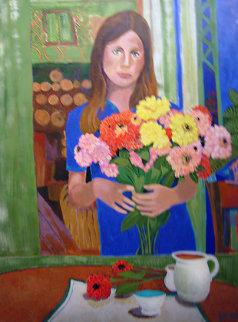 Nancy 1998 30x40 Original Painting by Russ Elliott