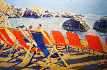 Tiberius Beach, Italy 2005 Embelliished Limited Edition Print - Russ Elliott