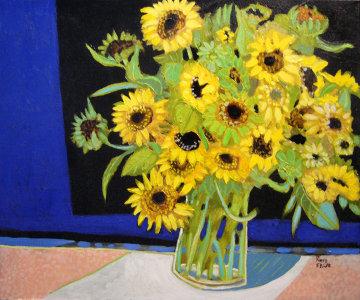 Small Sun Flowers 20x24 Original Painting by Russ Elliott