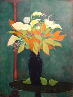 Black Vase 2001 40x30 Original Painting - Russ Elliott