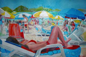 Copacabana Beach 2011 26x34 Original Painting by Russ Elliott
