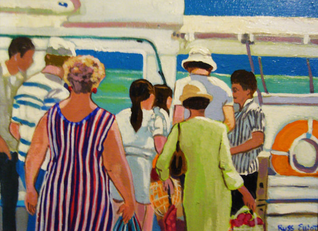 Caribbean Daytrippers 20x24 Original Painting by Russ Elliott
