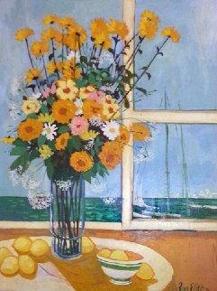 Untitled Bouquet, 1975 48x36 Original Painting by Russ Elliott