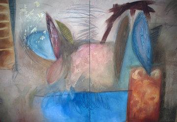 Archaic Cadence Diptych 60x88 Original Painting - Enrico Embroli
