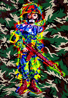 Camo Tramp Boy PP 2008 Limited Edition Print by Ron  English - 2