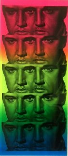 Rainbow Elvis II 2012 Works on Paper (not prints) by Ron  English