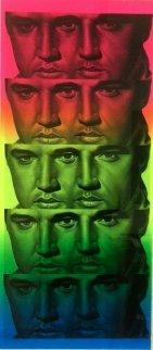 Rainbow Elvis II 2012 - Unique Monoprint Works on Paper (not prints) - Ron  English