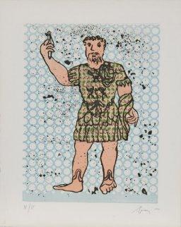 Sextus Varius Avitus Bassianus Heliogabalus 1972 Limited Edition Print - Enrico Baj