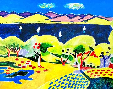 Paysae Near Collioure, France Limited Edition Print - Wayne Ensrud