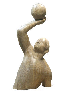 Goal Wood Sculpture Unique 2019 2019 35 in Sculpture - Alexander Eremin