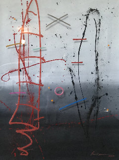 Man in Position 1988 62x50 Original Painting by Mark Erickson