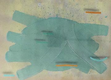 Smashed TV Bug 1988 42x51 Super Huge Original Painting - Mark Erickson