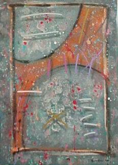 Soft Spoken Stranger 1988 50x40 Super Huge Original Painting - Mark Erickson