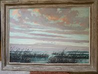 Necklaces in the Sky 1950 32x22 Original Painting by Eric Sloane - 1