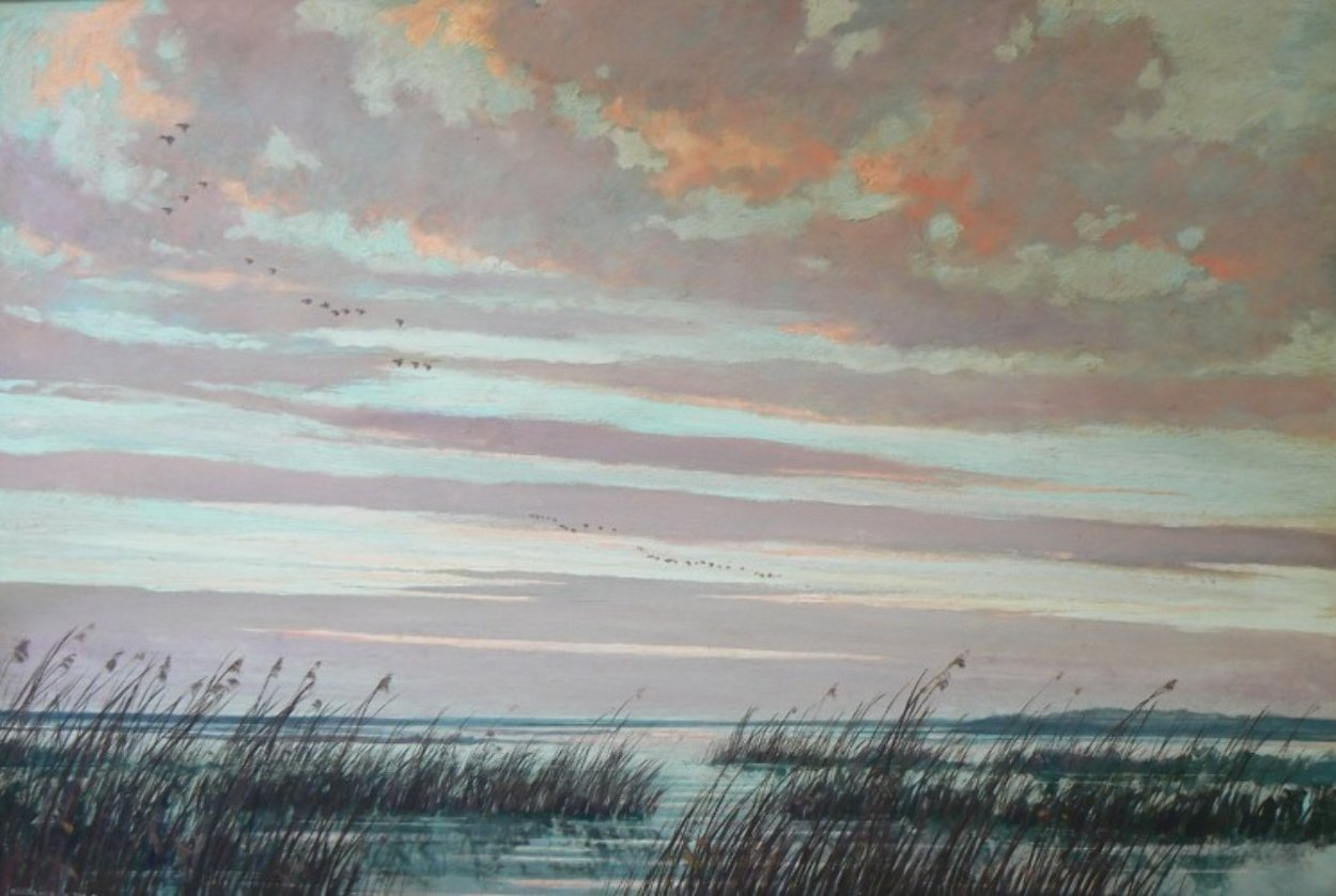Necklaces in the Sky 1950 32x22 Original Painting by Eric Sloane