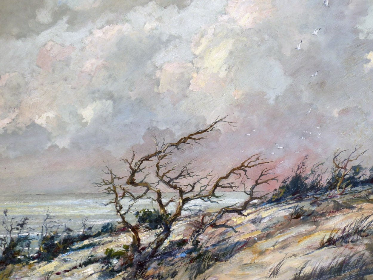 Wind 1950 23x29 Original Painting by Eric Sloane